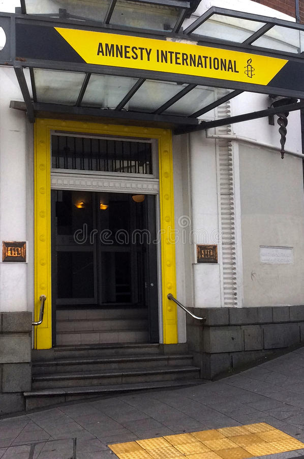 Amnesty International Headquarter. AUCKLAND - SEP 08 2015:Amnesty International Headquarter in Auckland, New Zealand.is a non-governmental organisation focused royalty free stock images