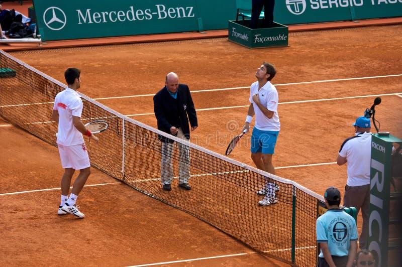 Amo 1 de Djokovic Monte Carlo Rolex imagen de archivo