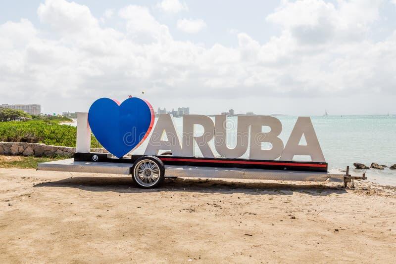 Amo Aruba fotos de archivo libres de regalías