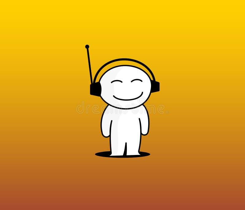 Amo ascoltare musica royalty illustrazione gratis