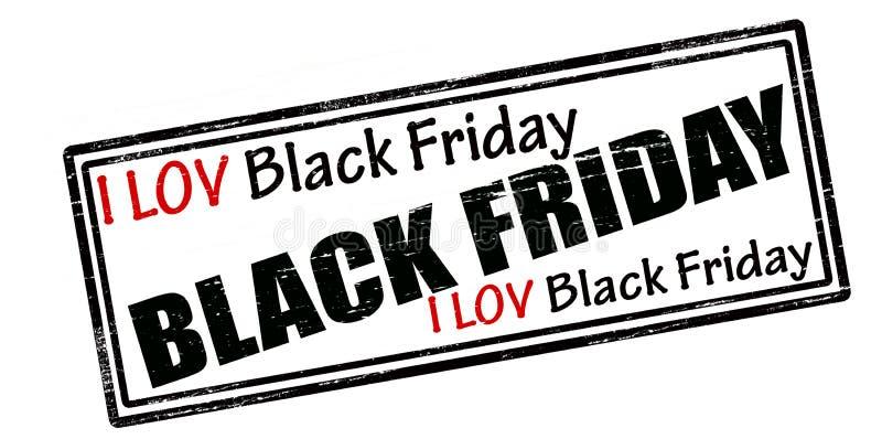 Amo Black Friday ilustración del vector