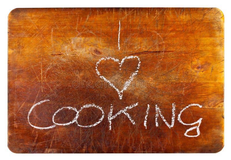 Amo cucinare fotografia stock