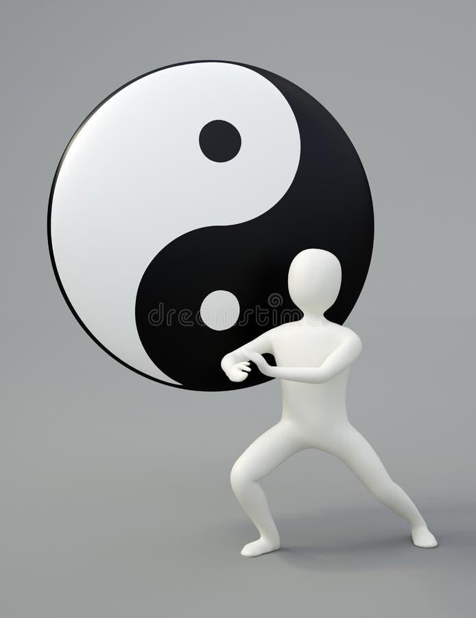 Amo de la ji del Tai ilustración del vector
