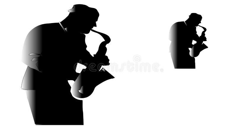 Amo del jazz fotografía de archivo
