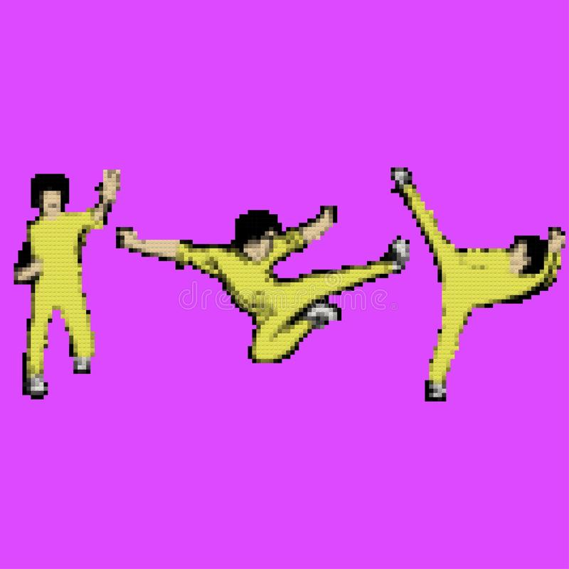 Amo del kung-fu stock de ilustración