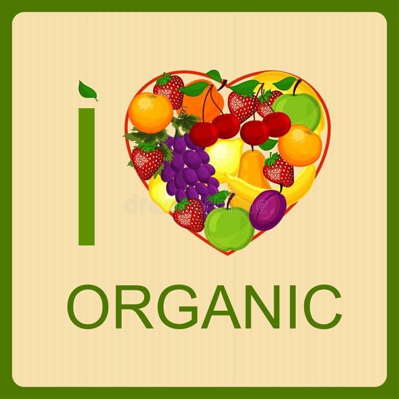 Amo el alimento biológico un ejemplo. libre illustration