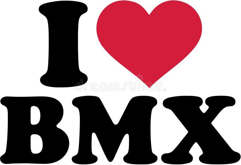 Amo el bmx stock de ilustración