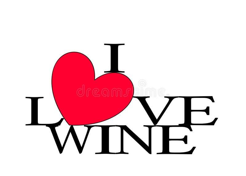 Amo el corazón del vino libre illustration