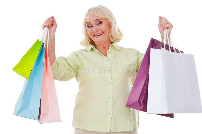 ¡Amo el hacer compras! fotos de archivo libres de regalías