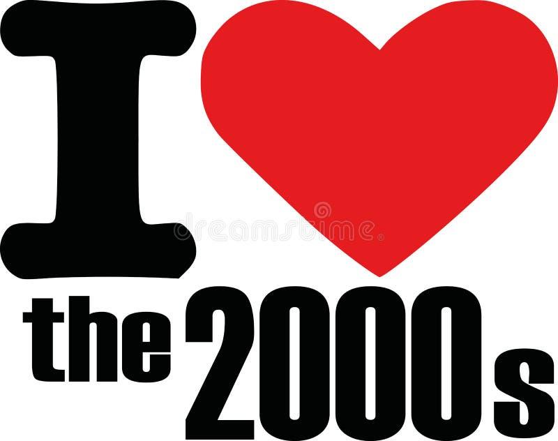 Amo el 2000s ilustración del vector