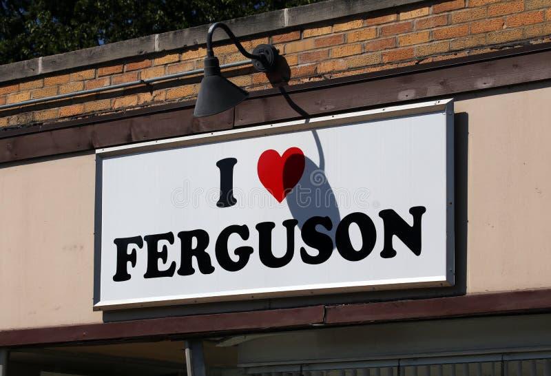 Amo a Ferguson imágenes de archivo libres de regalías