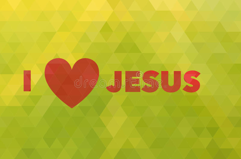 Amo Gesù, cuore isolato immagine stock