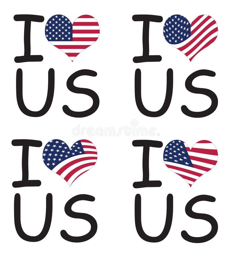Amo gli Stati Uniti royalty illustrazione gratis