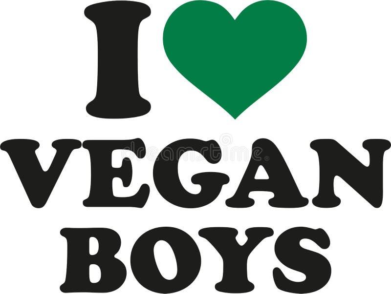Amo i ragazzi del vegano illustrazione di stock