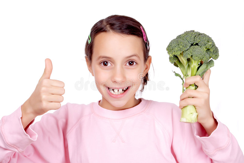 Amo il broccolo! fotografie stock libere da diritti