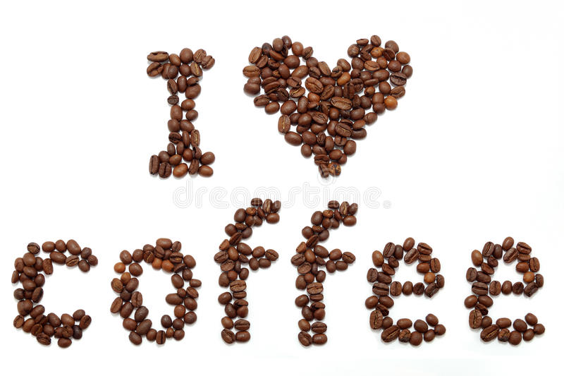 Amo il caffè fotografia stock libera da diritti