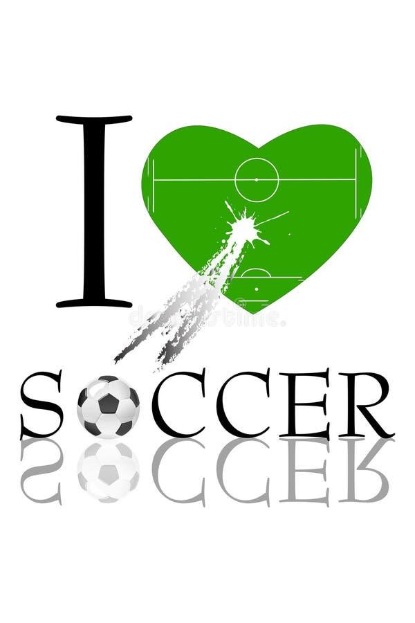 Amo il calcio illustrazione di stock