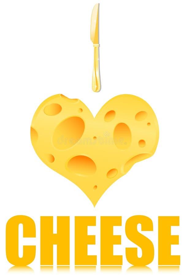 Amo il formaggio illustrazione di stock