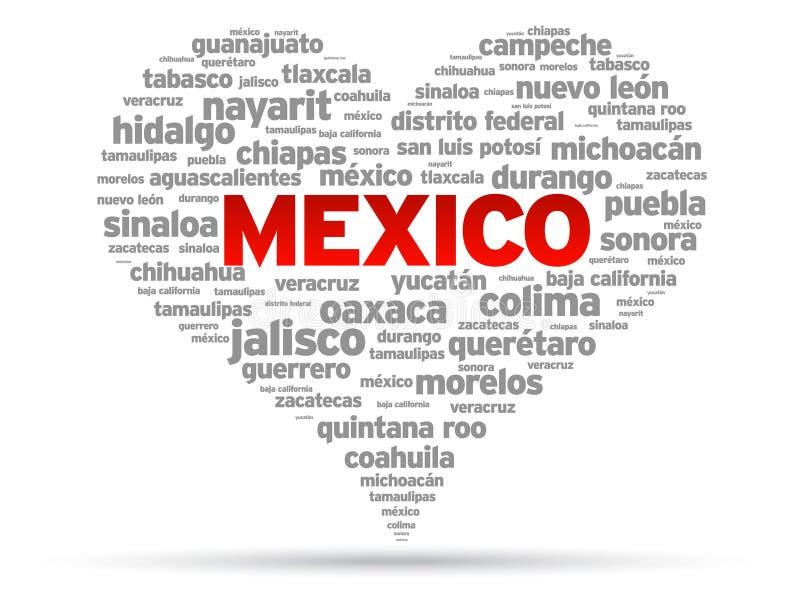 Amo il Messico illustrazione vettoriale
