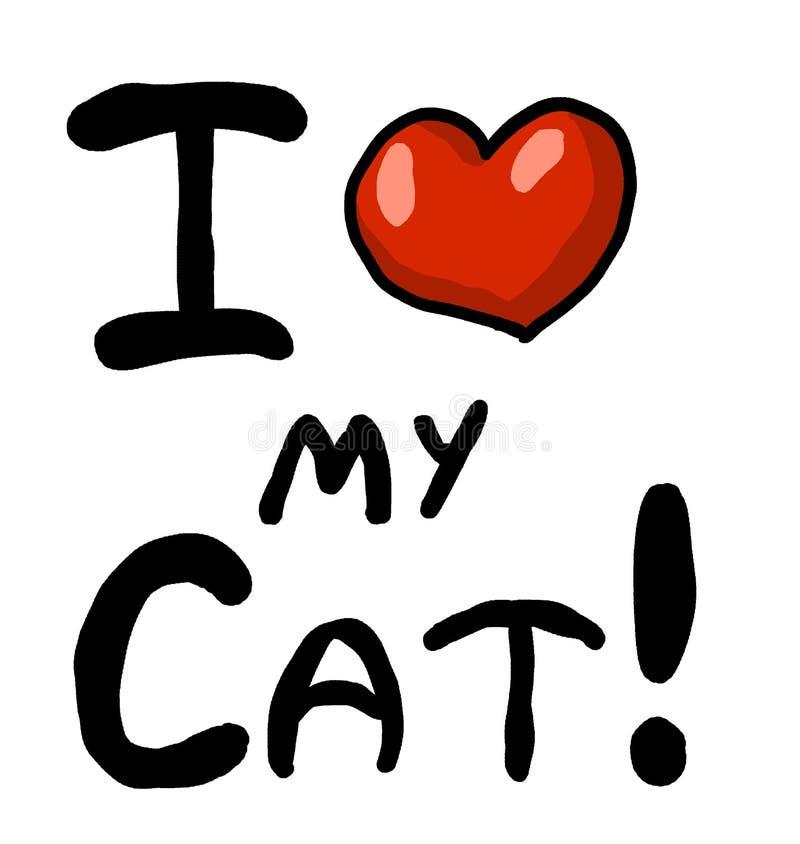 Amo il mio gatto royalty illustrazione gratis