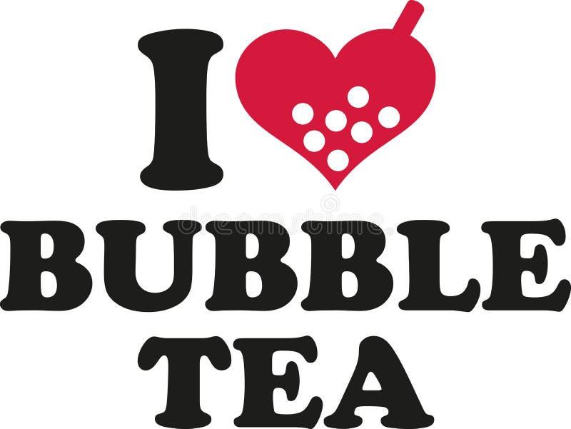 Amo il tè della bolla illustrazione di stock