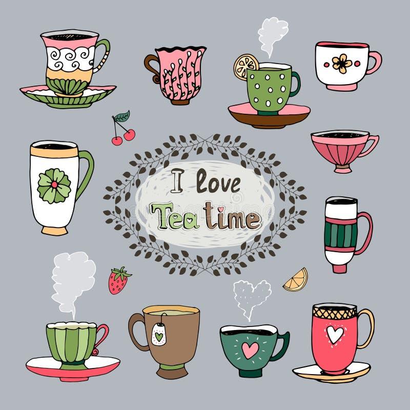Amo il tempo del tè royalty illustrazione gratis