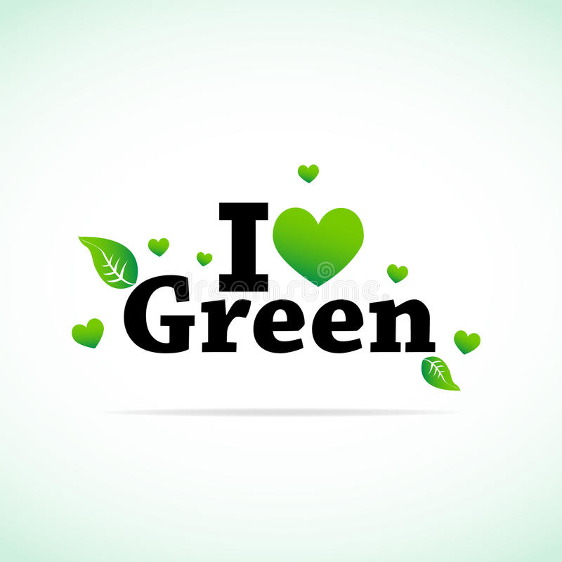 Amo il verde illustrazione vettoriale