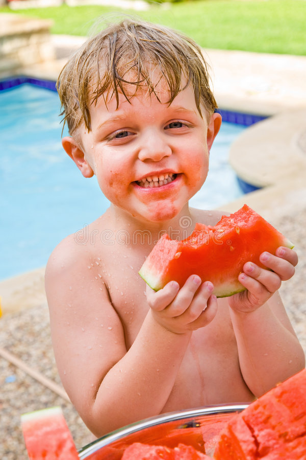 Amo l'anguria! fotografie stock