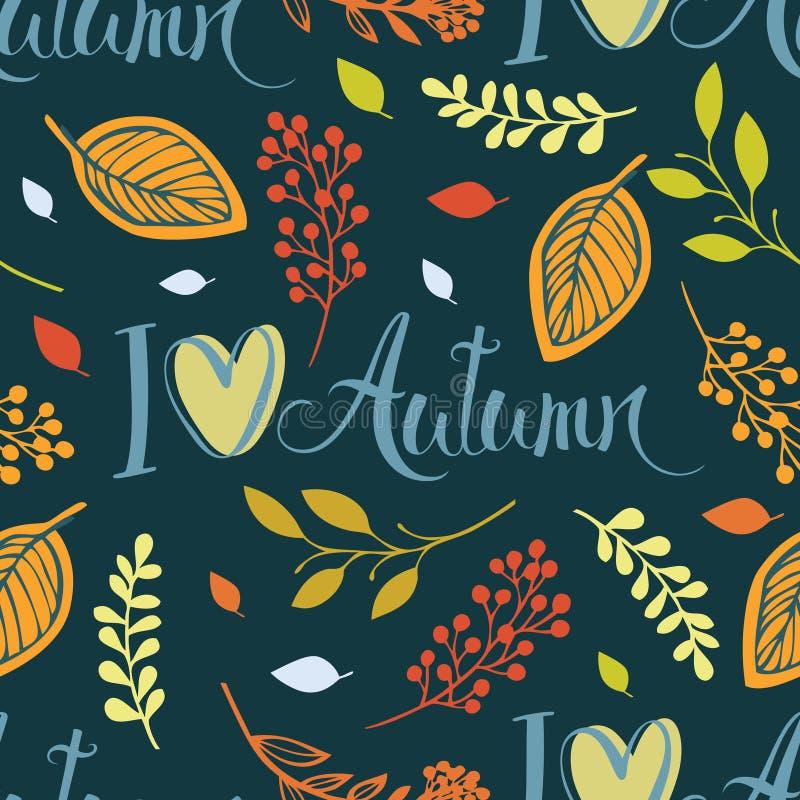 Amo l'autunno illustrazione di stock
