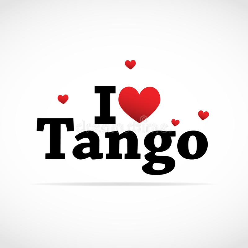 Amo l'icona di tango. royalty illustrazione gratis