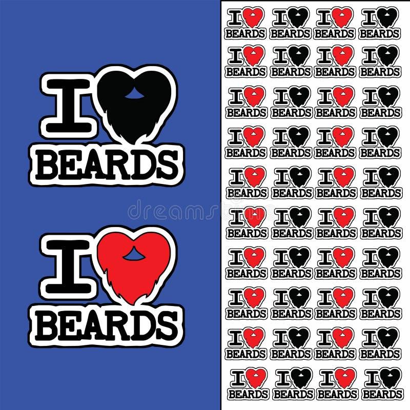 Amo la barba - logotipo - textura - modelo fotos de archivo