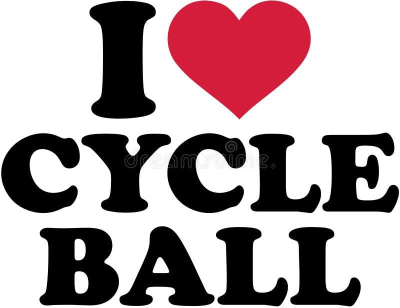 Amo la bola del ciclo ilustración del vector