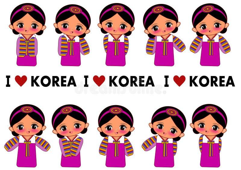 Amo la Corea illustrazione di stock