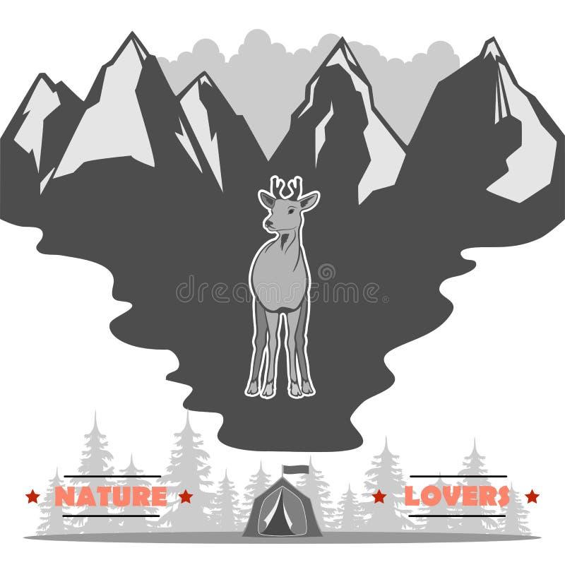 Amo la fauna selvatica e vi ringrazierà illustrazione vettoriale