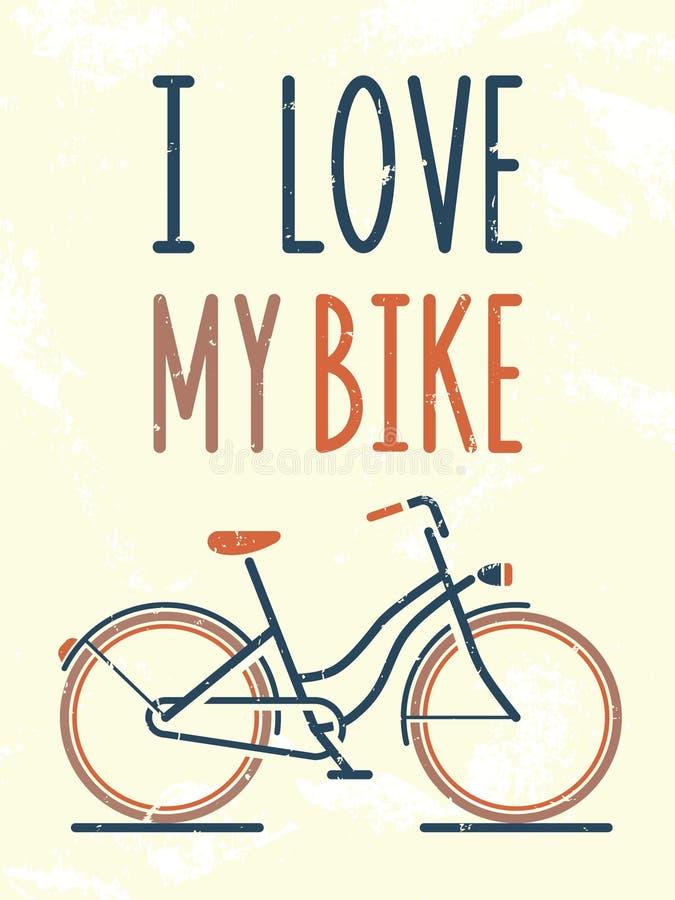 Amo la mia bici illustrazione di stock