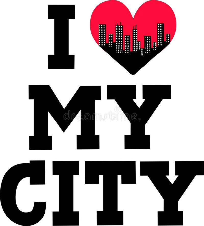 amo la mia città illustrazione vettoriale