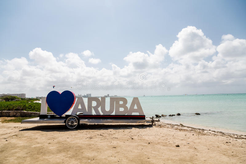 Amo la muestra de Aruba imagenes de archivo