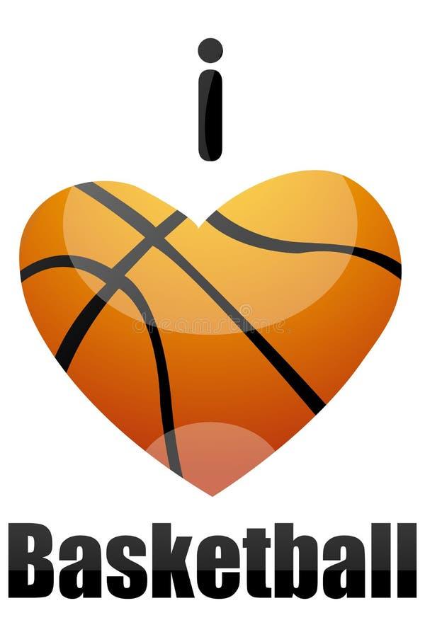 Amo la pallacanestro illustrazione di stock