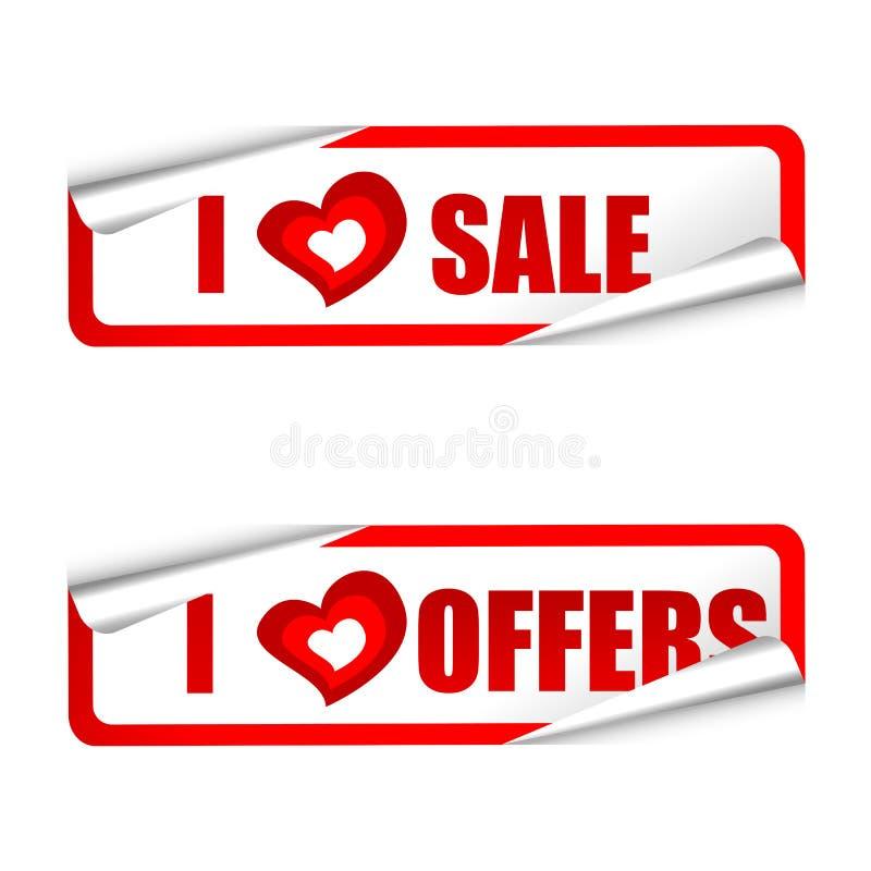 Amo la vendita ed offro le modifiche royalty illustrazione gratis