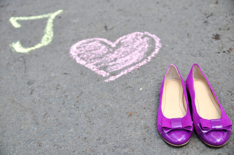 Amo le scarpe 2 fotografia stock libera da diritti