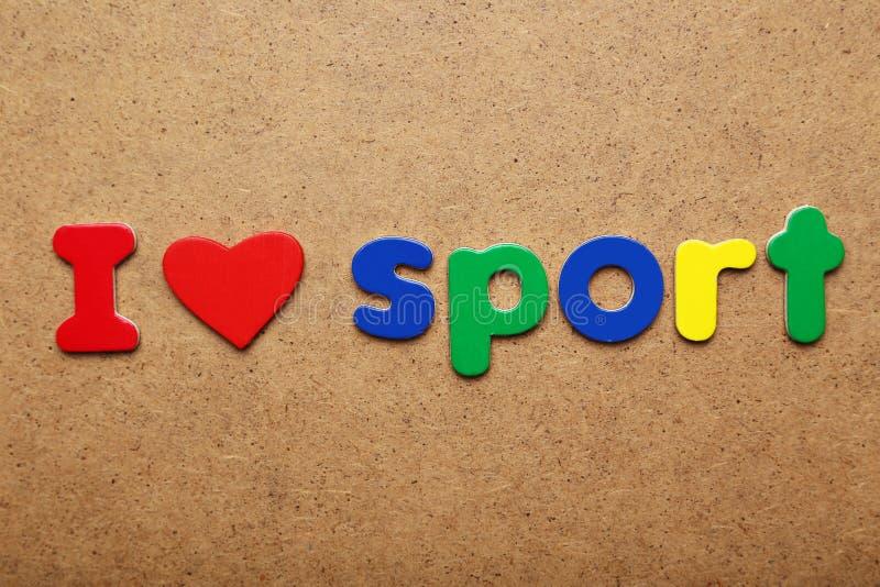 Amo lo sport immagine stock libera da diritti