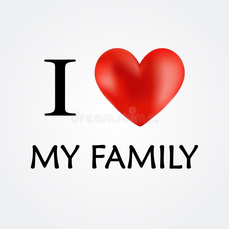 Amo a mi familia - vector stock de ilustración