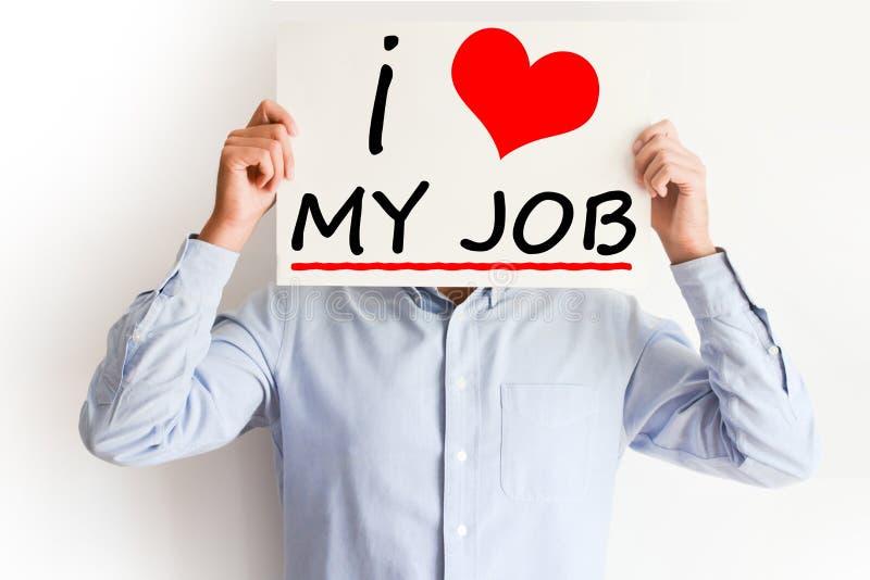 Amo a mi Job Concept imagen de archivo