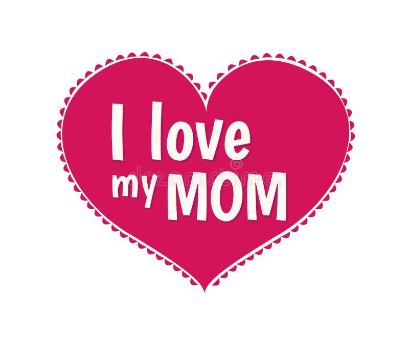 Amo mi vector de la mamá ilustración del vector