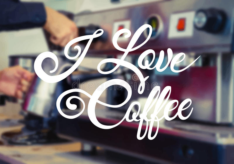 Amo vector del café stock de ilustración