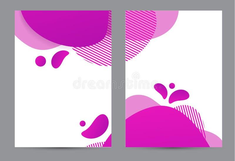 Amoeba funky Design für Printprodukte Banner mit dynamischem Stil mit Aamoeba-Funken-Gradienten-Elementen Kreativ für vektor abbildung