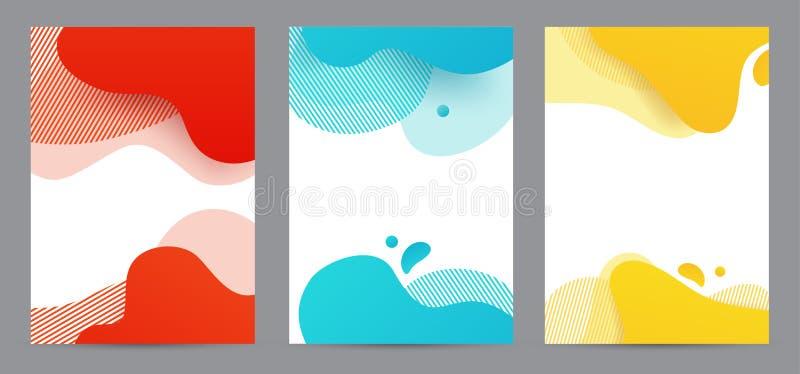 Amoeba funky design for print products Динамический набор баннеров стилей с элементами градиента amoeba funky Творчество для иллюстрация вектора