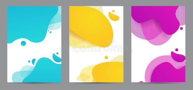 Amoeba funky design for print products Динамический набор баннеров стилей с элементами градиента amoeba funky Творчество для бесплатная иллюстрация
