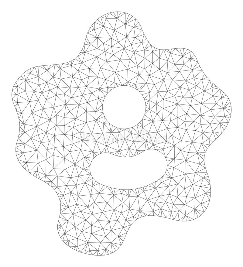 Amoebe Veelhoekig Kader Vectormesh illustration vector illustratie