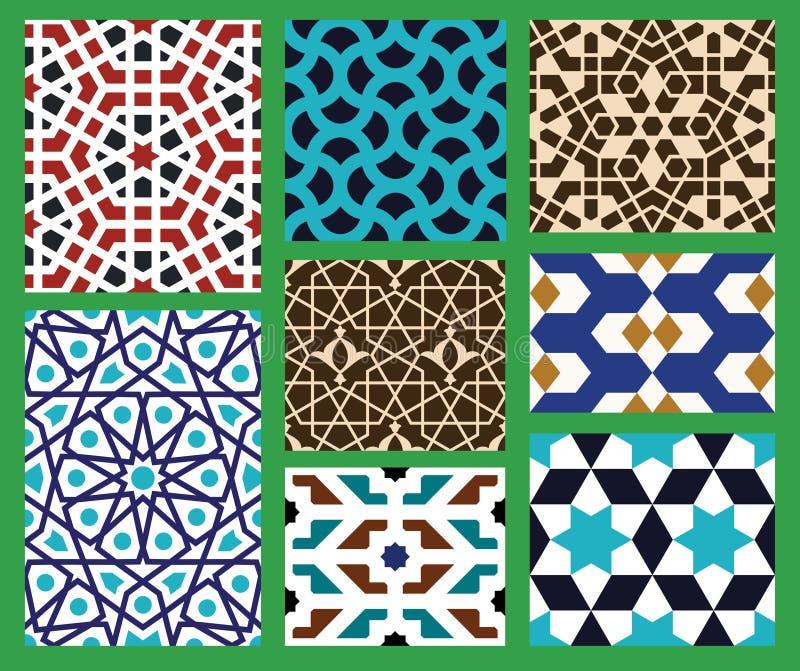 Amol Seamless Patterns Set ilustração stock